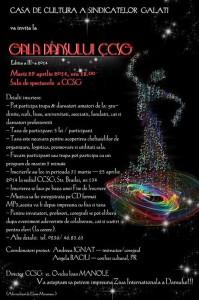"""""""Gala Dansului CCSG"""" – 2014, la Casa de Cultură a Sindicatelor"""