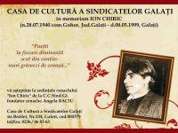 Ion Chiric – poet gălăţean comemorat la Cafeneaua Artiştilor