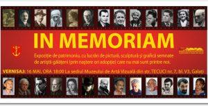 """""""In memoriam"""", un nou vernisaj la Muzeul de Artă Vizuală. Omagiu pentru marii dispăruţi"""