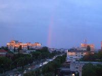 Fenomen rar la Galaţi: curcubeul de seară