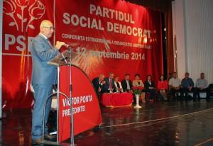 FOTOGALERIE. Conferința extraordinară a PSD Galați a validat scrutinul intern, desemnâdu-l pe Victor Ponta candidat la președinție