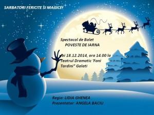 """Balerinele """"Şcolii de balet by Lidia Ghenea"""" în spectacolul """"Poveste de iarnă"""""""
