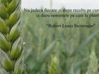 Nu judeca fiecare zi după recolta pe care o culegi, ci după seminţele pe care le plantezi