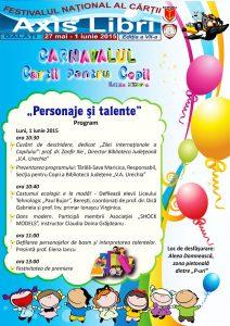 """Astăzi, Carnavalul Cărţii pentru Copii la Festivalul """"Axis Libri"""" şi inaugurarea Falezei Copiilor"""