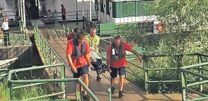 O navă de croazieră a acostat de urgenţă în Galaţi din cauza unui deces