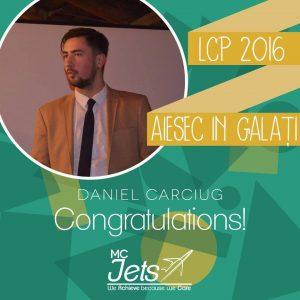 AIESEC Galaţi : Președintele Daniel Carciug - planuri mari pentru 2016