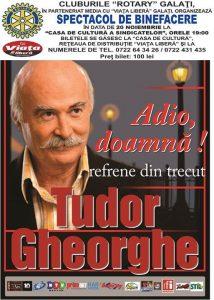Vineri la Galaţi: Spectacol excepțional marca Tudor Gheorghe