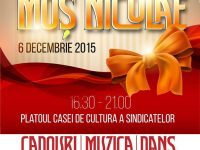 Duminică vor fi aprinse luminiţele din bradul de Crăciun şi iluminatul festiv din piaţeta de la Casa de Cultură a Sindicatelor