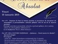 15 ianuarie, Ziua Culturii Nationale şi 166 de ani de la naşterea lui Mihai Eminescu. Manifestări şi expoziţii