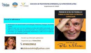 Despre psihoterapia experienţială şi psihoterapie. Curs disponibil acum şi în Galaţi