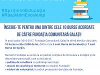 10 burse oferite de Fundaţia Comunitară Galaţi îşi aşteaptă candidaţii