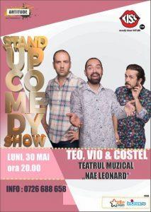 Luni, 30 mai  2016: Stand UP Comedy cu Teo, Vio & Costel la Teatrul Muzical