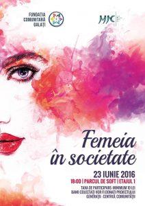 """""""Femeia în societate"""", un eveniment marca Fundaţia Comunitară Galaţi"""