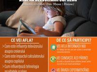 """Duminică, 19 martie: """"Efectele ecranelor electronice asupra dezvoltării copiilor"""", atelier marca Şcoala Familiei"""