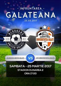 Singura echipă de fotbal feminin din Galați, AFC Universitatea Galați, meci amical cu bloggerii din Galați și Brăila