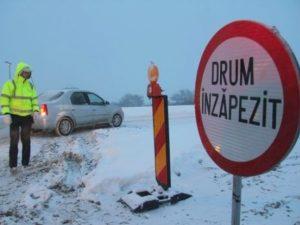 A fost închis DN24D, Galați – Bârlad, din cauza viscolului care spulberă zăpada pe carosabil