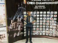 ŞAH: Mihai Eduard Pădurariu – VICECAMPION MONDIAL, secțiunea șah blitz, la categoria sub 13 ani