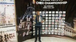 ŞAH: Gălăţeanul Mihai Eduard Pădurariu – VICECAMPION MONDIAL, secțiunea șah blitz, la categoria sub 13 ani.