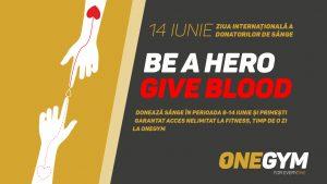 Be a Hero. Give Blood. O campanie de donare de sânge. Mai sunt doar două zile