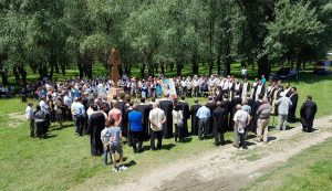 """FOTO. Comemorarea victimelor lagărului de la """"Salcia"""", din Insula Mare a Brăilei"""