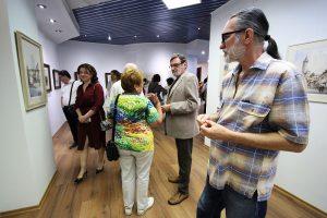 FOTOGALERIE. La Muzeul de Artă, expoziția plasticianului Corneliu Drăgan Târgoviște, un maestru al acuarelei
