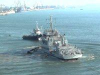 """La """"Damen"""" a avut loc lansarea la apă a noului remorcher – spărgător de gheață al AFDJ"""