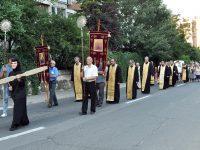 FOTOGALERIE. Procesiune cu icoana Maicii Domnului Făcătoare de Minuni de la Mănăstirea Adam