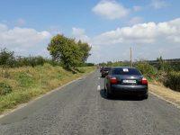 Protest pe DN 24D. Peste 50 de șoferi au rulat cu 30 km/h, cerând asfaltarea drumului național
