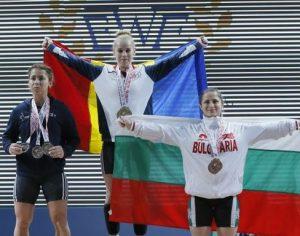 Sportiva Elena Andrieș, de la CSU Galați, a obținut 3 Medalii de Aur la Campionatul European de Haltere