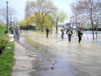 Viitură pe Dunăre. Debitul fluviului este cu 50% mai mare decât media multianuală a lunii martie