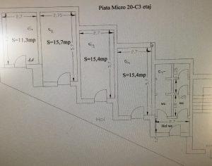 Spații de birouri spre ȋnchiriere, ȋn Piața Micro 20