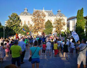 La Galaţi s-a protestat paşnic!